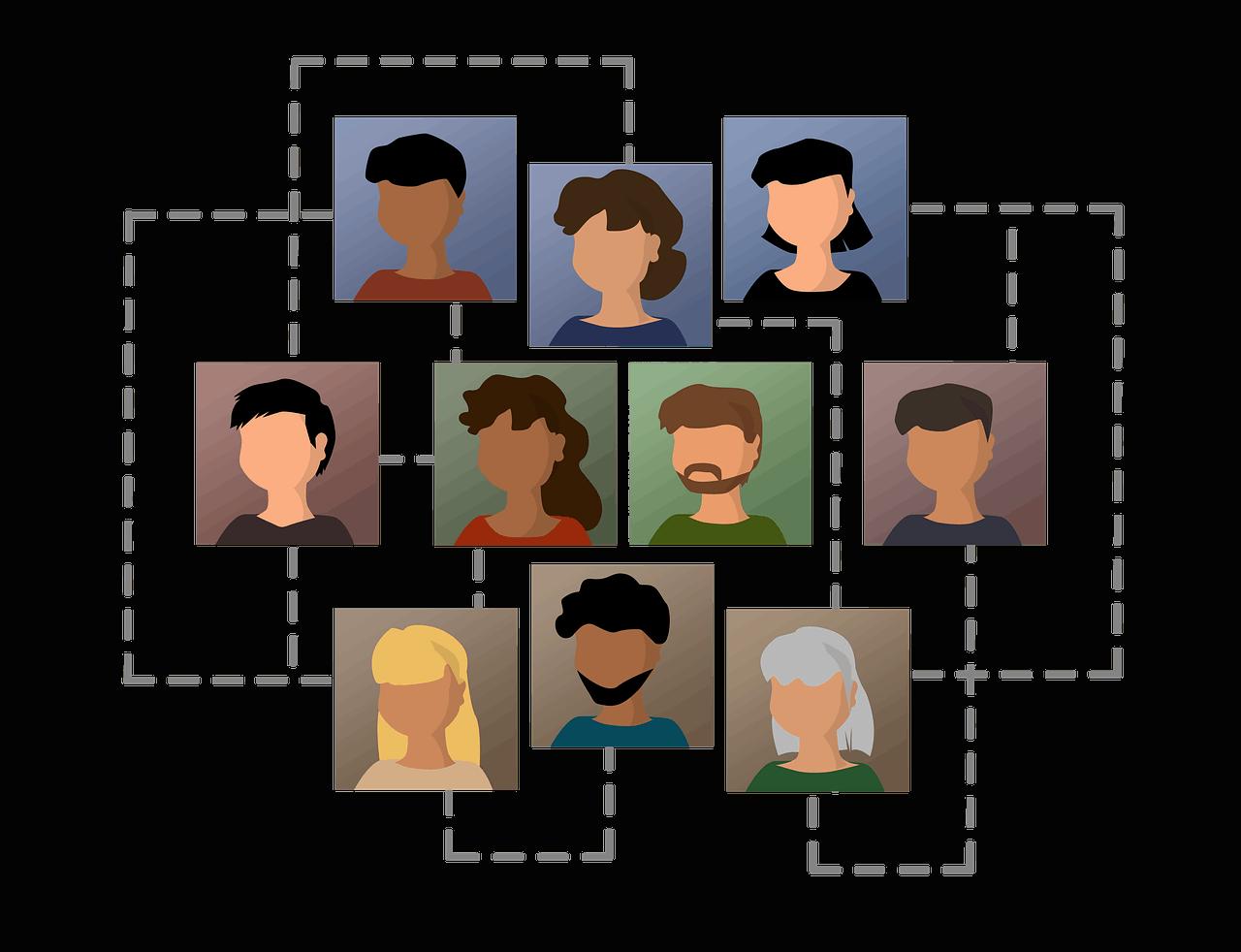 רשת תקשורת בין אנשים