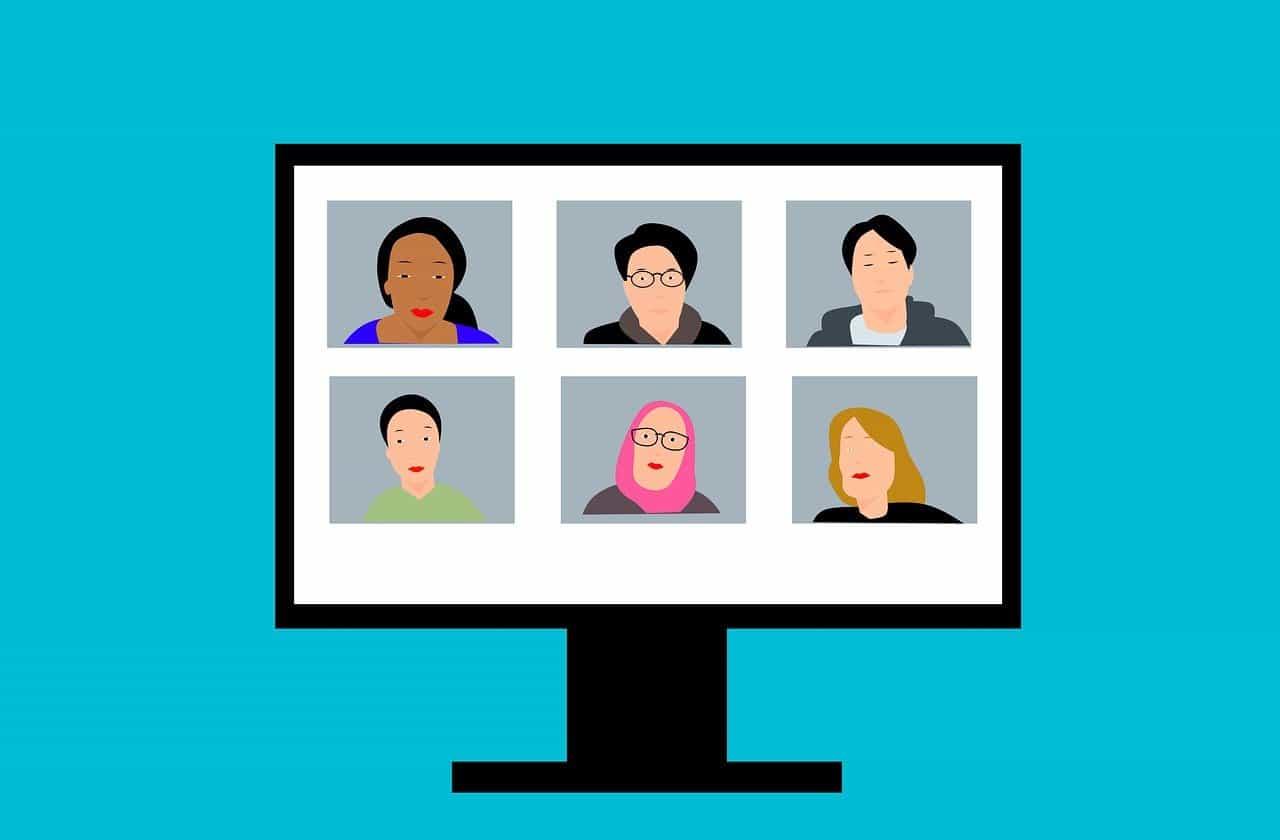 פגישת וידאו במחשב